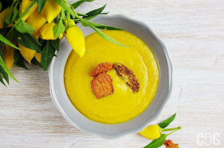Krem z żółtej papryki   Creamy Yellow Pepper Soup