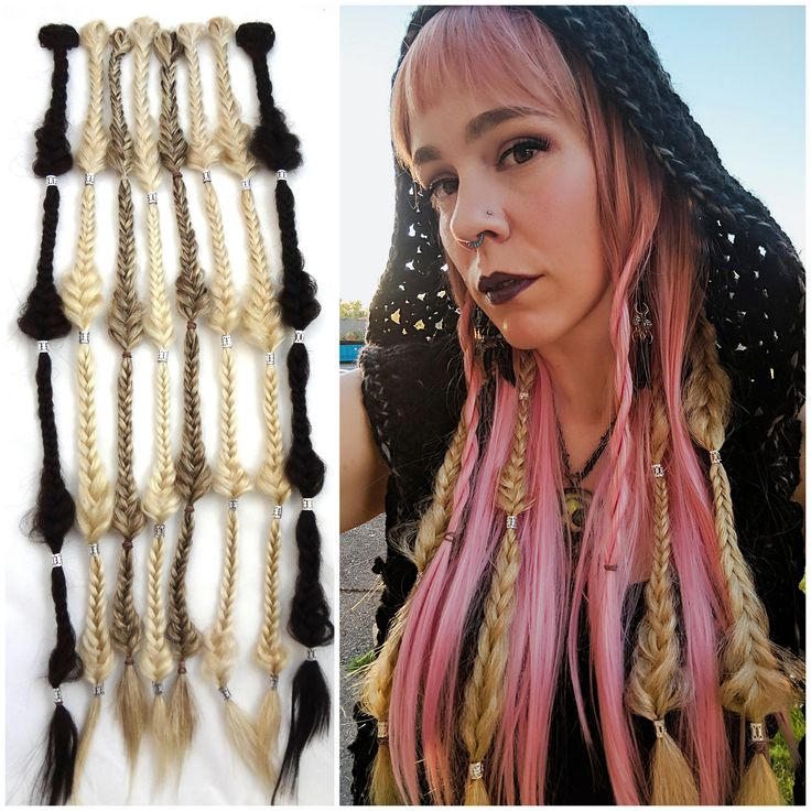 The 25 best braid extensions ideas on pinterest black braids messy teardrop fishtail braid your color choice clip in hair extension synthetic fishtail braid pmusecretfo Image collections