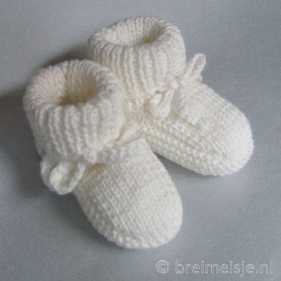 Patroon baby babyslofjes breien