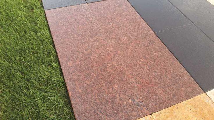 Granitplatten Vanga Rot