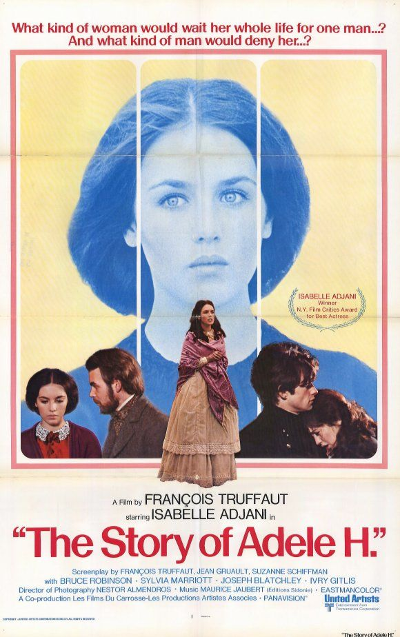 76. The Story of Adele H. (Francois Truffaut, 1975): 3.5/5