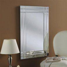 Art Deco Wall Mirror 91 x 61cm
