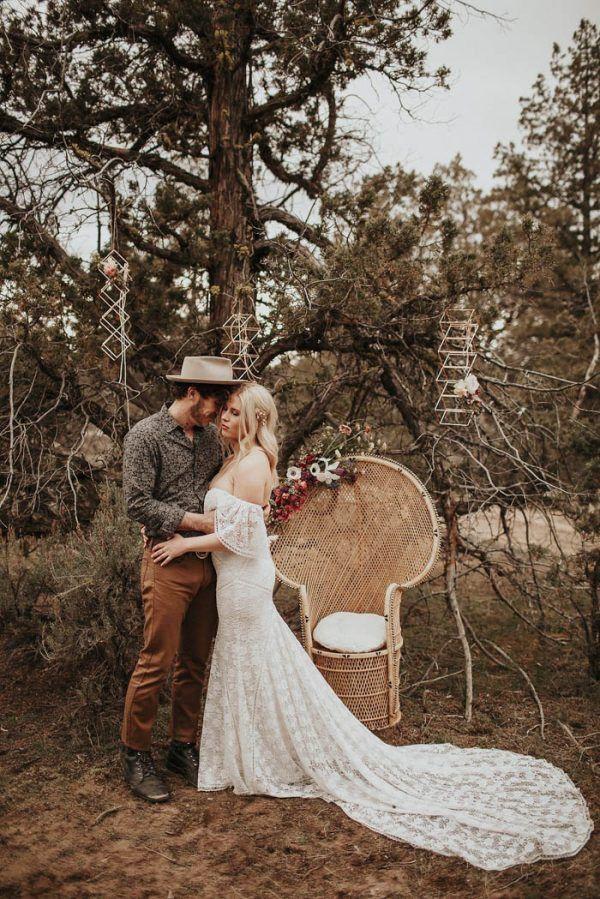 Bohemian Glamping Wedding Inspiration at Panacea at the Canyon | Junebug Weddings
