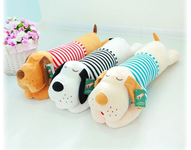 28 Inches Hot Stuffed Plush Grovelling Dog In Red/Blue Stripe Clothes Soft Toy #Handmade