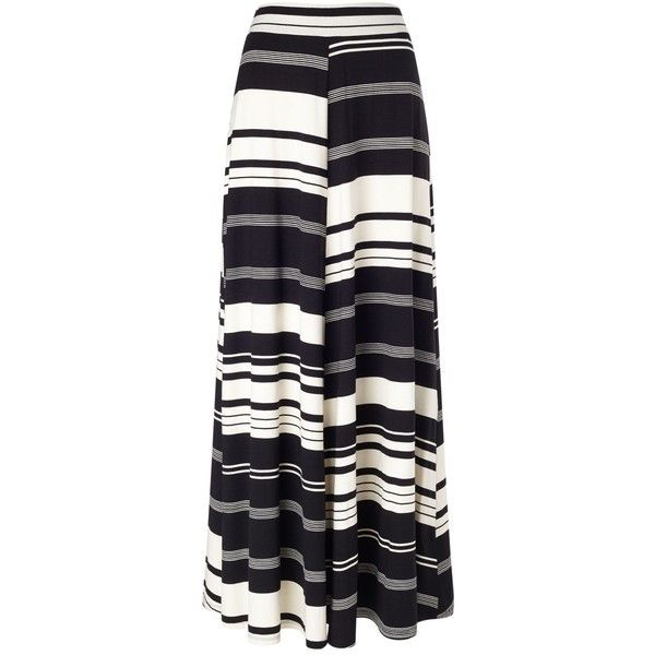 Phase Eight Kat stripe jersey maxi skirt ($97) ❤ liked on Polyvore featuring skirts, bottoms, saia, black, women, striped jersey, jersey skirt, striped skirt, maxi skirt and striped maxi skirt