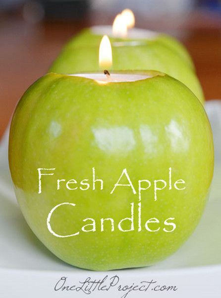 """Debbie shows us how to make these lovely """"Fresh Apple Tea Light"""" candle holders and gives us great tips on how to make sure these fresh apples last a long time!"""
