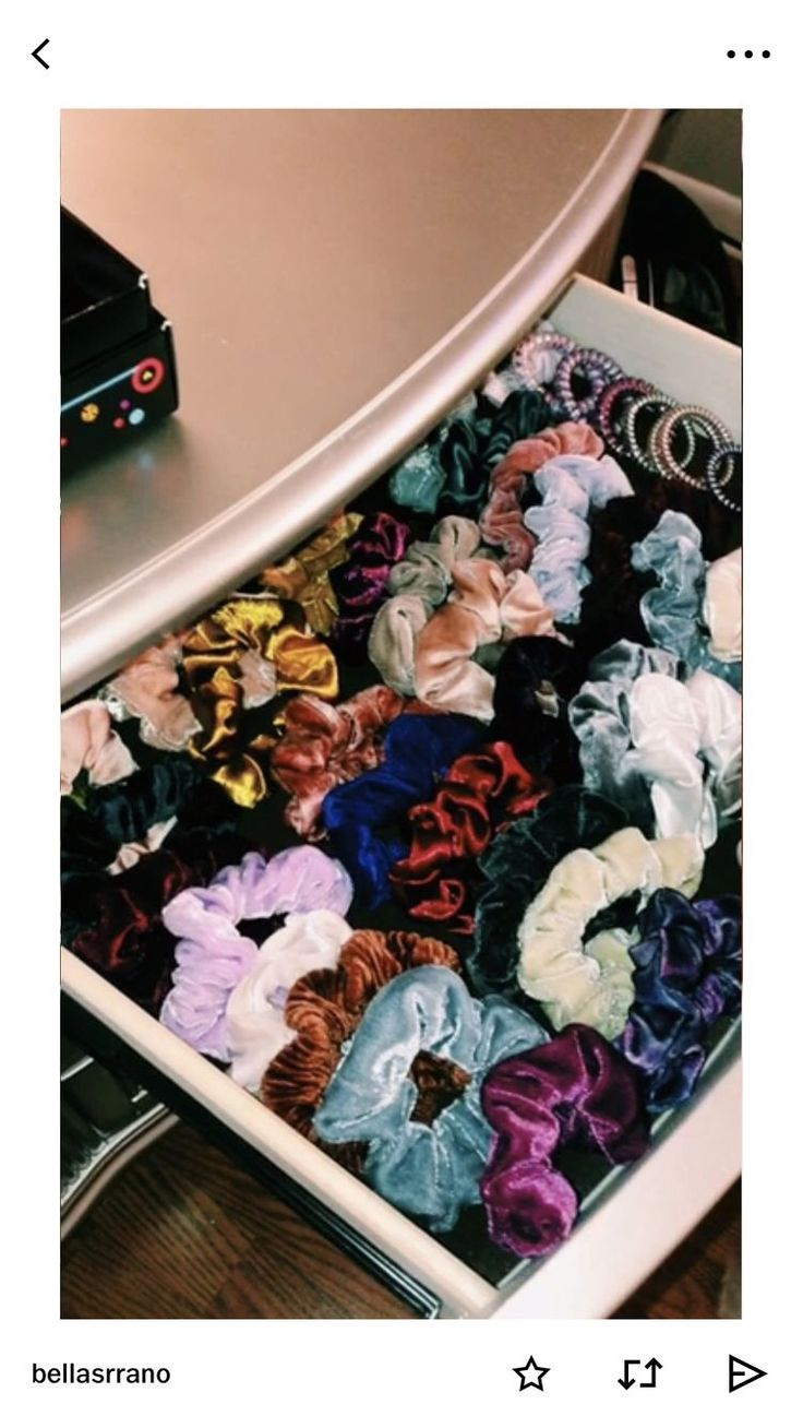 Scrunchies Drawers Hairband Scrunchie Vsco Vscocam Bedroom Bedroomideas