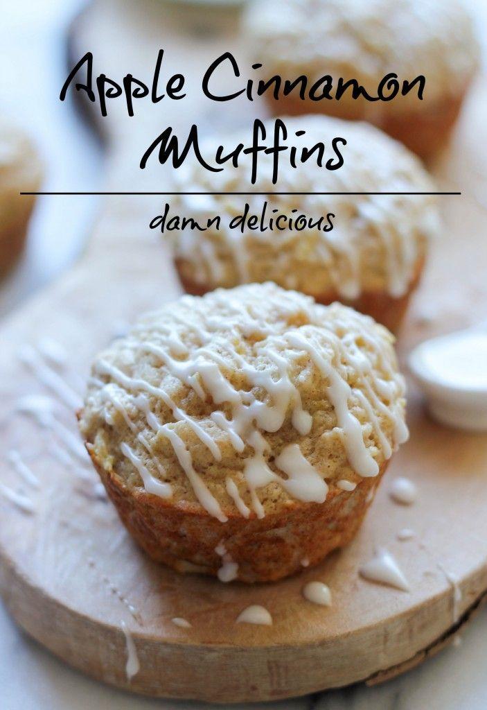 Glazed Apple Cinnamon Muffins | Recipe | Apple Cinnamon Muffins, Apple ...