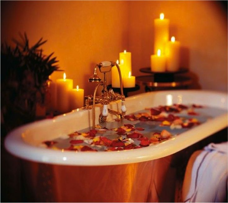A relaxing candle lit bubble bath will make for a great ...