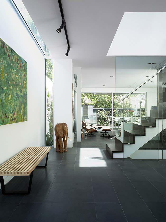 Lovely staircase. Slit window evolving into skylight. Trinian Street   Jam ArchitectsJam Architects