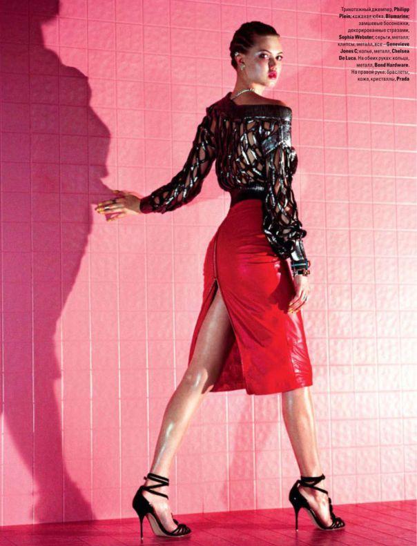 Lindsey Wixson by Jeff Bark for Vogue Ukraine, May 2014 ~ Fashion Editor: Olga Yanul ~ Hair: Carmel Bianco ~ Makeup: Kristin Hilton
