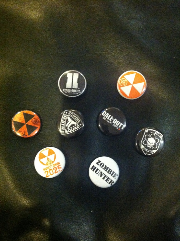 Call of Duty: Black Ops 2 - 1 inch Pinback Buttons - Pack of 8 - Party Favors. $5.95, via Etsy.