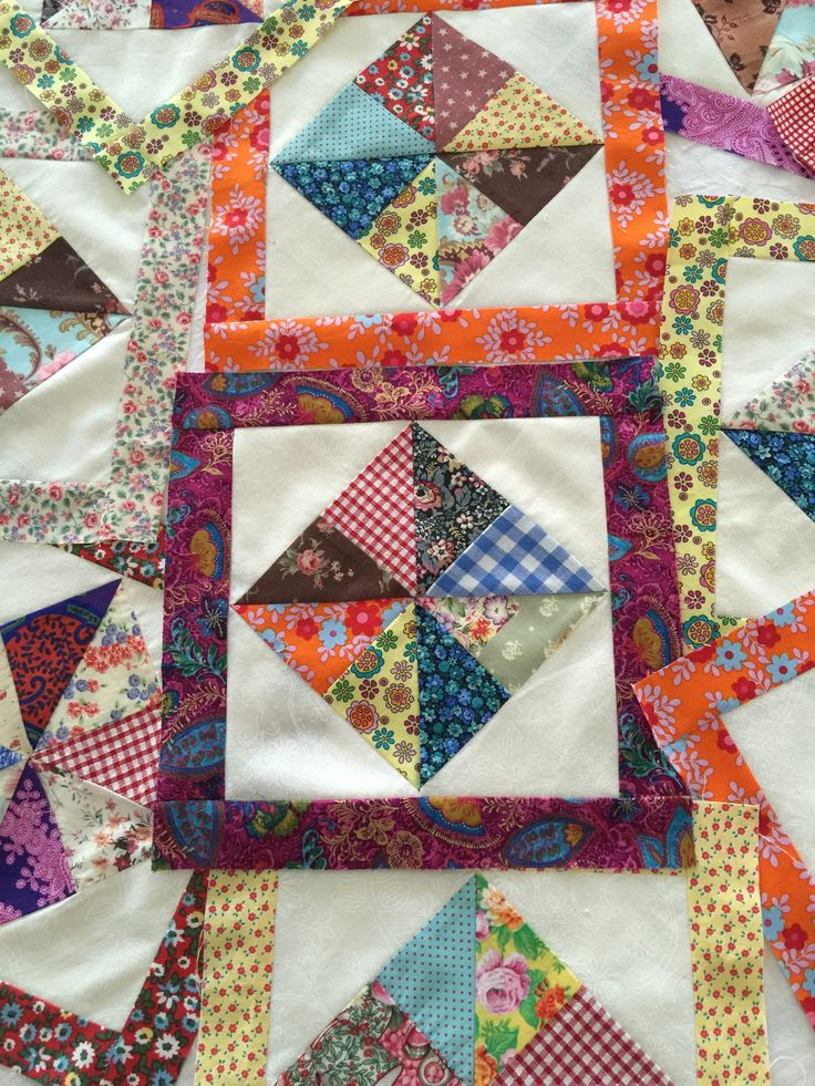 scrappy pinwheels in a square - part 2