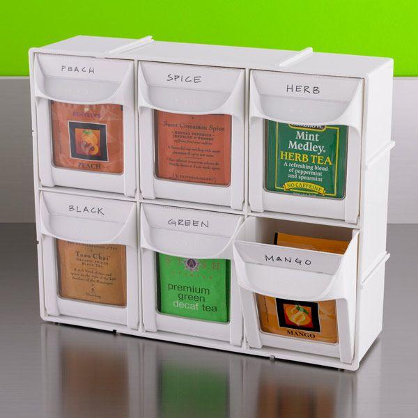 Modular Flip Out Bins Tea Bag Storagecard