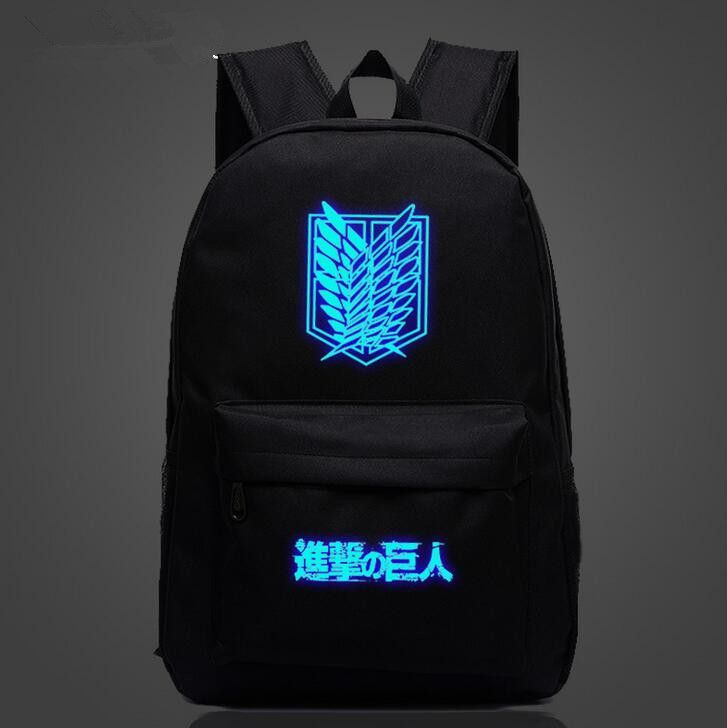 Attack on Titan Backpack Japan Backpack Bag Nylon Sports Galaxy Universe print