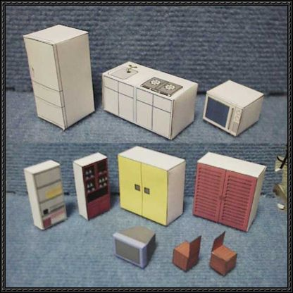 Simple Furniture Paper Models for Diorama Free Templates Download - http://www.papercraftsquare.com/simple-furniture-paper-models-diorama-free-templates-download.html