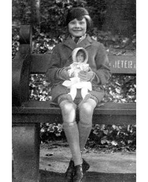 Very young Audrey Hepburn in Holland before the outbreak of WWII.