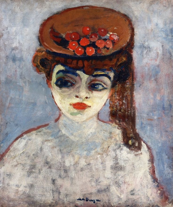 """Kees van Dongen - Woman with Cherries on Her Hat, 1905."" You cheer me on, & I'll be your cherry."