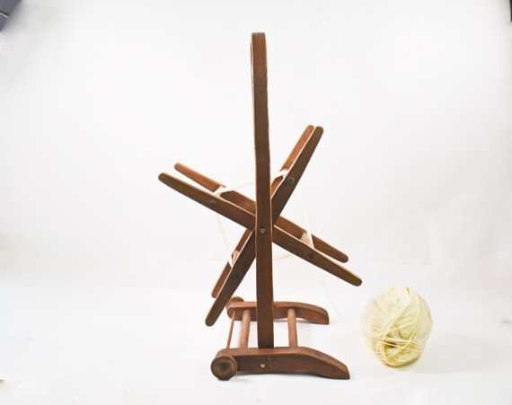 Vintage Wooden Yarn Winder Floor Yarn Holder by Vintassentials
