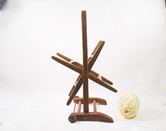 Vintage Wooden Yarn Winder Floor Yarn Holder by Vintassentials