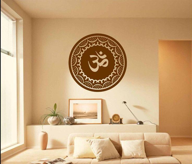 OM AUM Symbol Vinyl Wall Art Sticker Wall Decor Home Decor Wall Decal - Hinduism Sanskrit Spiritual(China (Mainland))