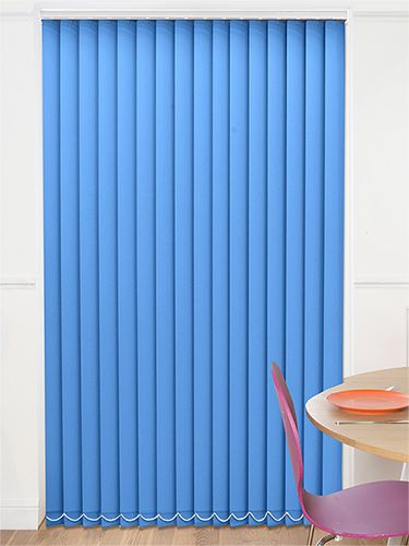 We've added fresh shades to our collection and this Valencia Vertical Blind is most certainly bold and blue!