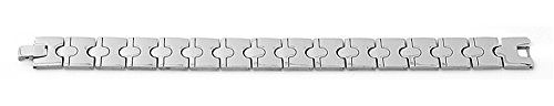 Men Jewelry - STR0302 Stainless Steel Classic Polished Link Mens Bracelet -- Details can be found by clicking on the image.
