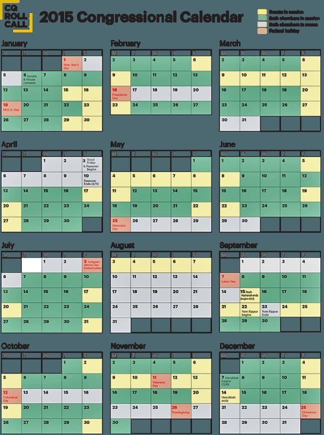 congressional calendar 2015