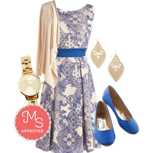 Twirl is On My Mind by modcloth on Polyvore featuring Olivia Burton and plus size dresses