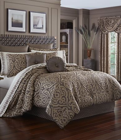 Rose Tree Norwich Damask Amp Striped Comforter Set Queen