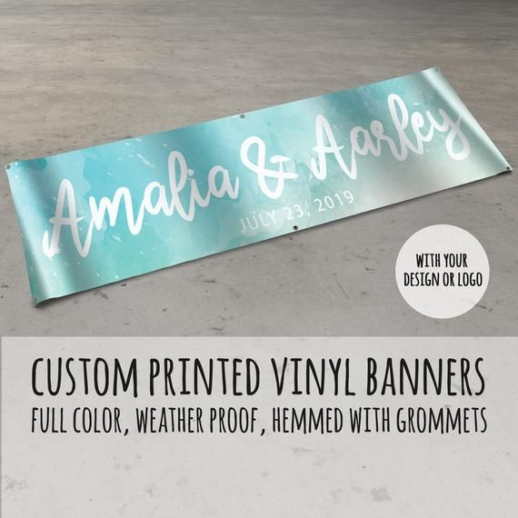 Custombanner Customvinylbanner Our High Quality Square Vinyl Banners Start At Two Feet By Four Feet And Are Vinyl Banners Custom Banners Custom Vinyl Banners
