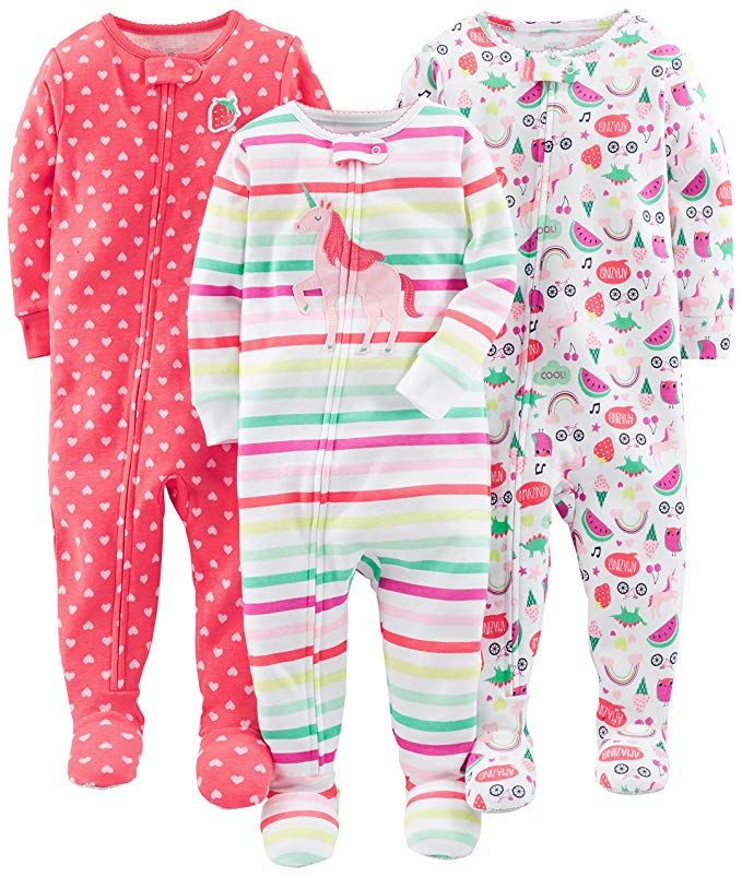 de7825b0a Amazon.com  Simple Joys by Carter s Baby and Toddler Girls  3-Pack ...