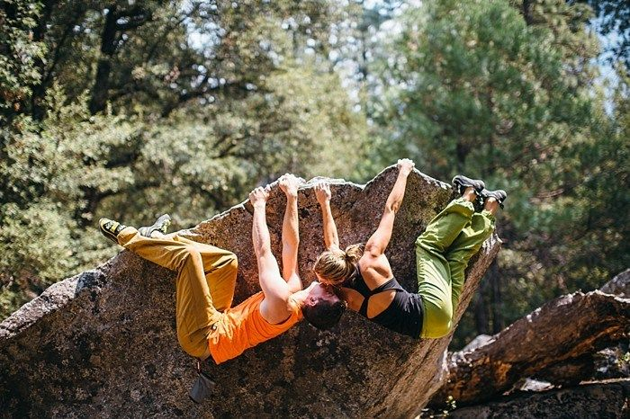 Yosemite rock climbing engagement  These are cheesy and adorable and I kind of love them.