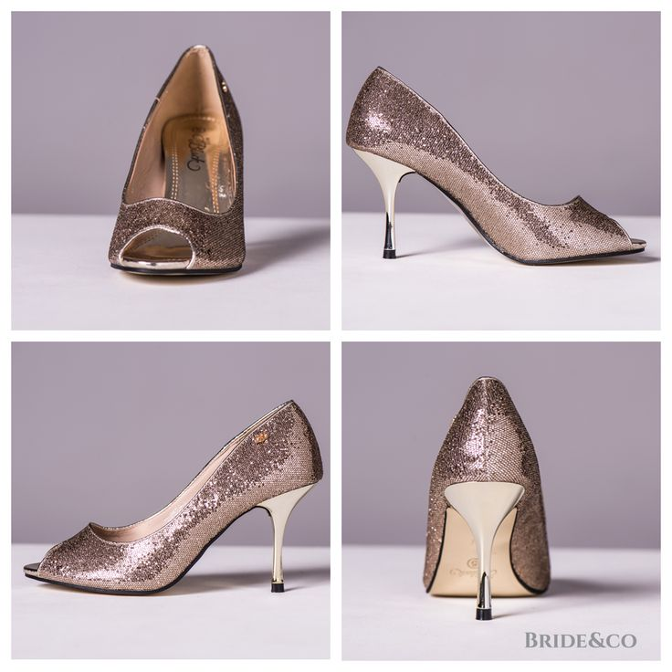 Some #shoes are just too good not to be the star of your outfit (next to you, obviously)! Look party-ready in these sparkling #gold kitten #heels (Style NORMA). Click to View More Online from Bride&co.  #goldshoes #instashoes #shoeobsessed #goldheels