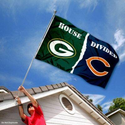 House Divided Flag - Packers vs. Chicago Bears