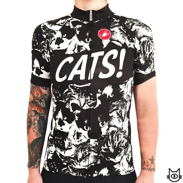 CASTELLI cycling jersey CatCamo by Icksnay: kittens invasion | www.cycletoscana.com