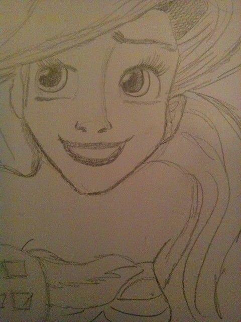 Aerial,  Little Mermaid sketch