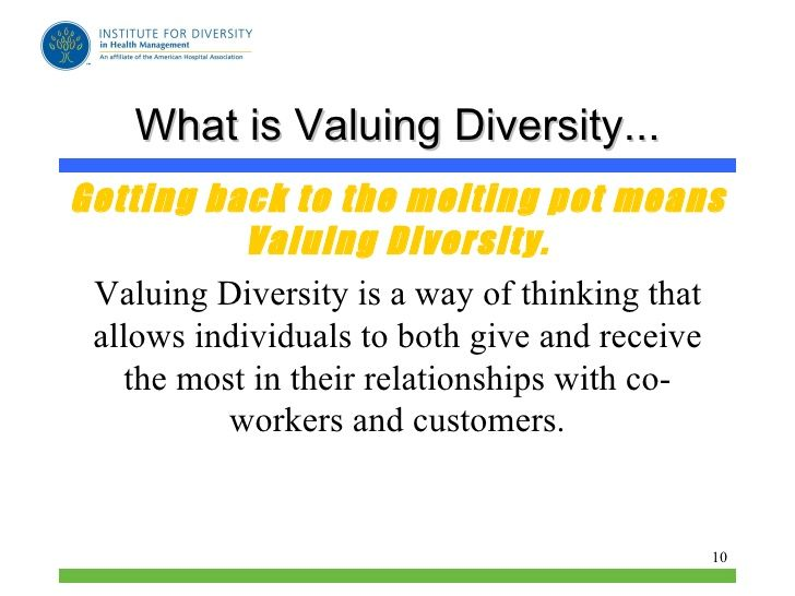 the value of diversity Diversity can be defined as people coming together from different races, nationalities, religions and sexes to form a group, organization or community a diverse organization is one that values.