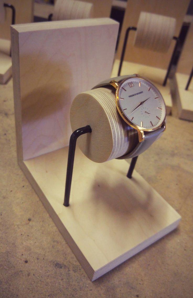 Birch Plywood Watch Display