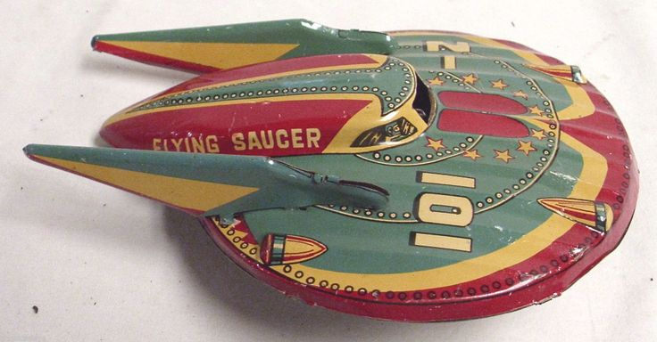 101 Z Flying Saucer Tin Friction Space Toy 1950s by Modern Toys of Japan Sharp | eBay