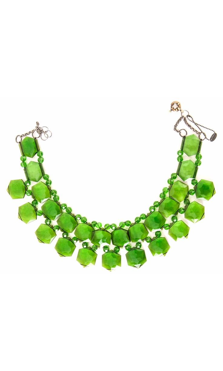 Nanni semiprecious green stone collar -  #accessories