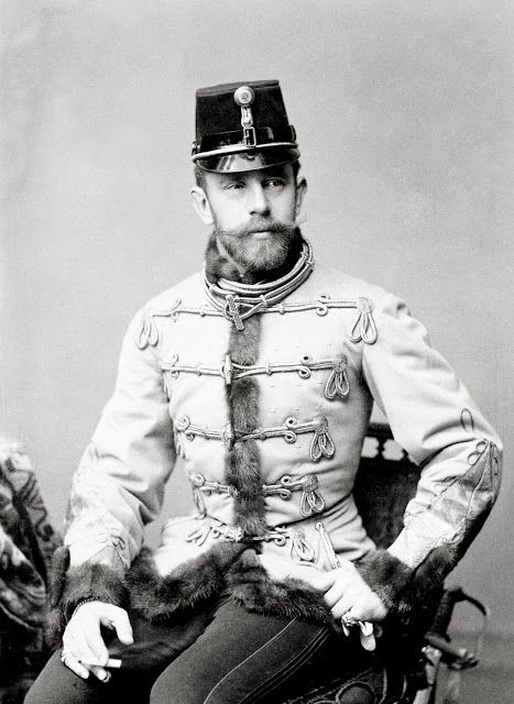 Archduke Rudolph, Crown Prince of Austria and Hungary  (1858-1889).  Rudolph was the son of Archduke Franz Josef and Empress Elizabeth (Sissi) of Austria.  His suicide together with his girlfriend's was a destabilizing factor in the events leading to WWI.  Archduke Rudolph had so much in life but found no happiness.