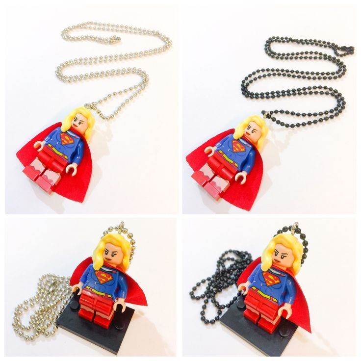 A personal favorite from my Etsy shop https://www.etsy.com/listing/236093624/lego-supergirl-necklace-supergirl