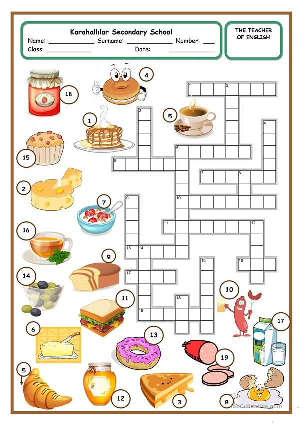 Yummy Breakfast Activity Sheets For Kids English Grammar For Kids Yummy Breakfast