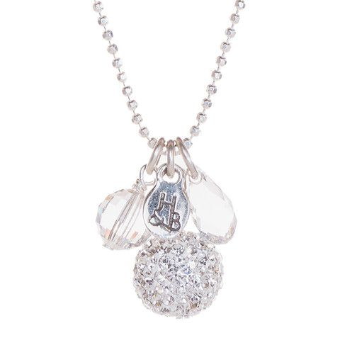 White Sparkle Ball Cluster Necklace – Hillberg & Berk