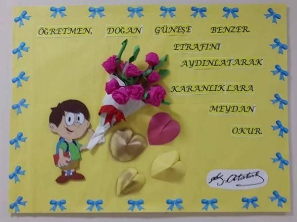24 Kasım Öğretmenler Günü Pano Örnekleri - İlkokul Dökümanları