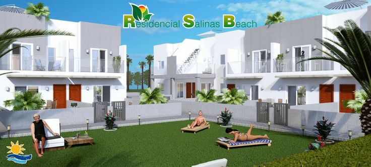Starting 126.000 €. 2 bedroom townhouse located in Aguas Nuevas - Torrevieja (Costa Blanca). The homes have fitted wardrobes, 80 liters heater, parking space and communal swimming pool with Jacuzzi, surrounded by green areas.