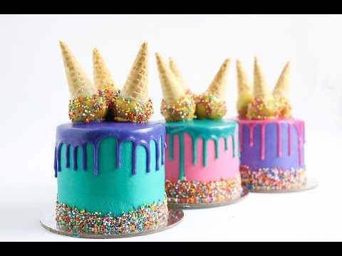 Ice Cream Cone Drip Cake Tutorial