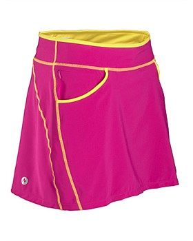 Marmot Cascade Skort. Made with lightweight, breathable performance fabric, the compression knit interior short has a Coolmax® gusset liner to manage moisture, while the four-way stretch gives you full-stride functional movement. Adjust the elastic waistband with an interior draw cord and store your keys in the zippered pocket. Buy Now: http://www.outsidesports.co.nz/clothing/womens-bottoms/shorts-and-skirts/CNAL68480/Marmot-Cascade-Skort.html#.VNKdyLSuqyI