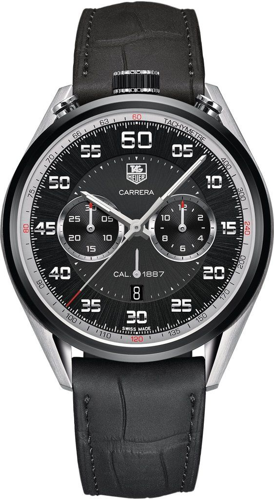 TAG Heuer Watch Carrera Chronograph Calibre 1887 D #bezel-fixed #black-friday-code-allow #bracelet-strap-alligator #brand-tag-heuer #case-material-black-pvd #case-width-45mm #chronograph-yes #date-yes #description-done #dial-colour-black #gender-mens #lux https://timetogetone.myshopify.com/